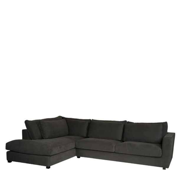 canapé dangle gauche napels gris lifestyle - Canapé d'angle Gauche Napels Gris Shadow Lifestyle