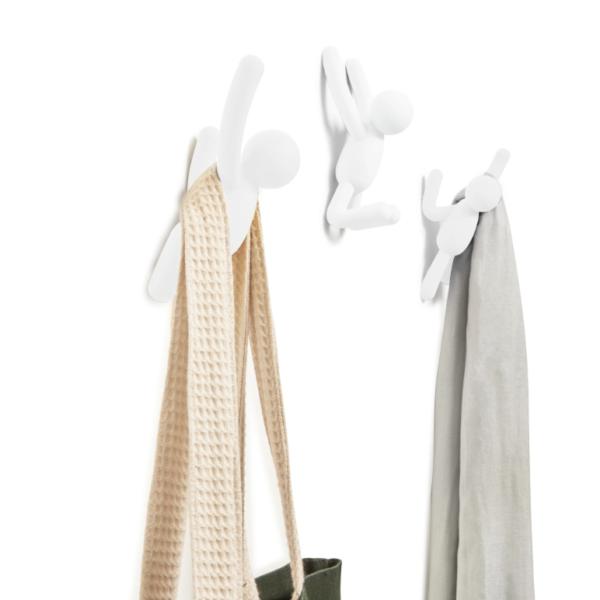buddy hook blanc - Crochets muraux Buddy blanc UMBRA lot de 3
