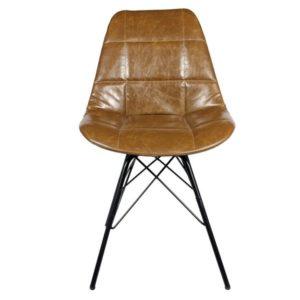 staten-chaise-en-simili-cuir-et-metal-brun-300x300