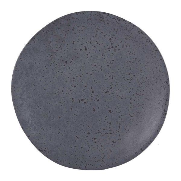 assiette plate granit 264259 - Lot de 6 Assiettes plates GranitGris