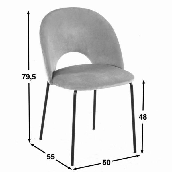 Cave Chair Dimensions 1 - Lot de 2 Chaises Velours Sable Cave