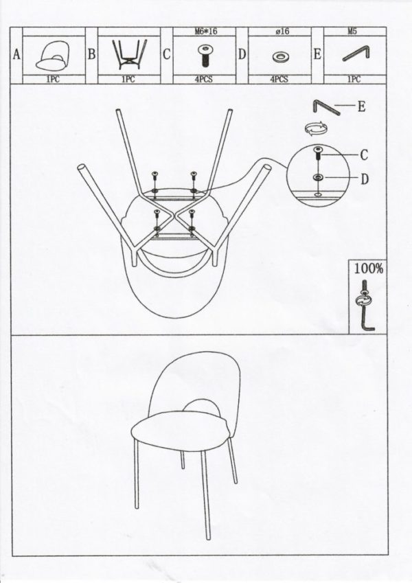 Manual Cave Chair scaled 1 - Lot de 2 Chaises Velours Sable Cave