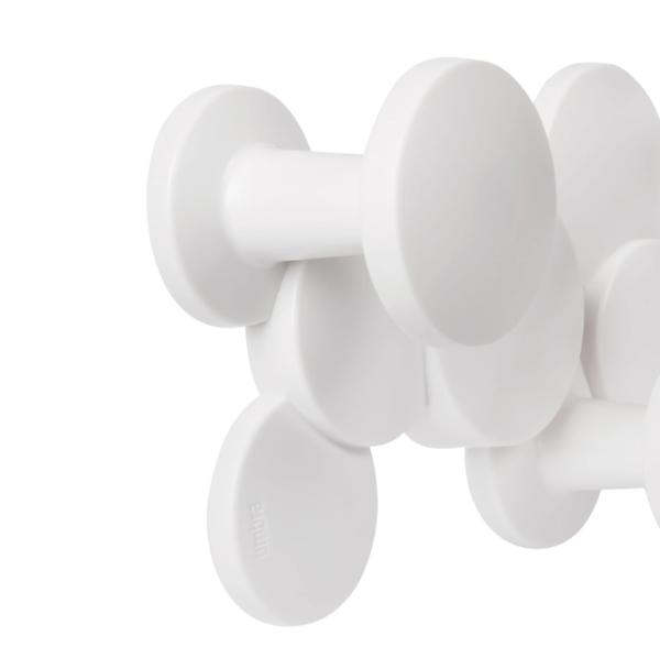 bubble wall hook blanc 4 - Patère Bubble blanc UMBRA 5 crochets