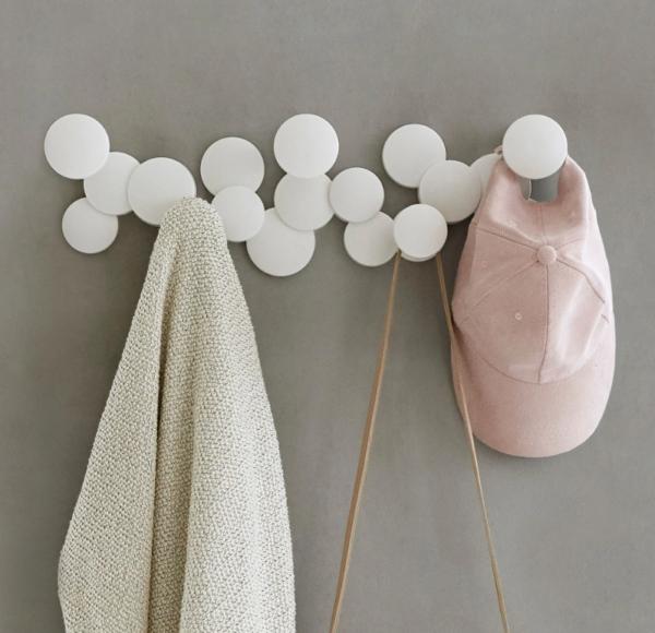 bubble wall hook blanc ambiance - Patère Bubble blanc UMBRA 5 crochets
