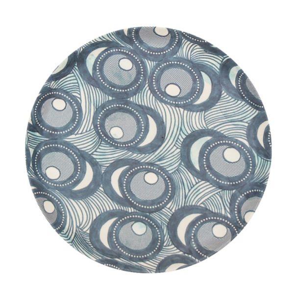 ASSIETTE 104744 - Assiette Bambou Fish eye 14 cm