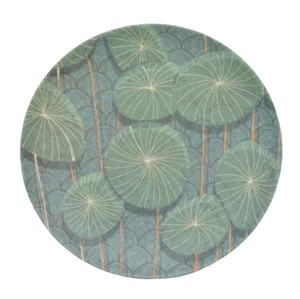 ASSIETTE 104746 - Assiette Bambou Nymphaea 20 cm