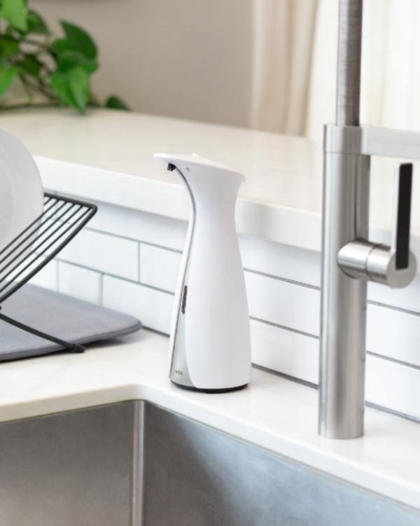 otto blanc ambiance - Distributeur savon automatique blanc UMBRA