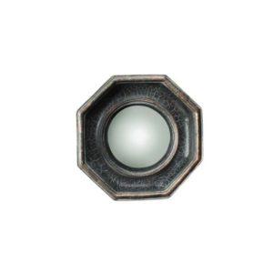 Miroir convexe octogonal patine noire - Meilleures ventes