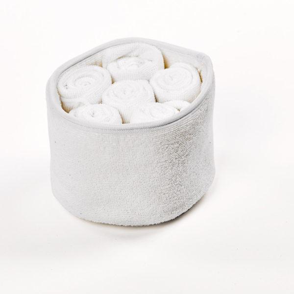 psj059.1 30x30 1 - Panier de 6 serviettes invités Blanc Simla