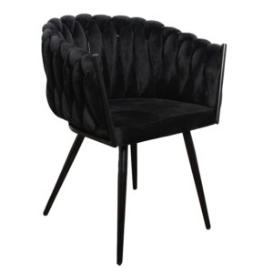 chaise Wave noir