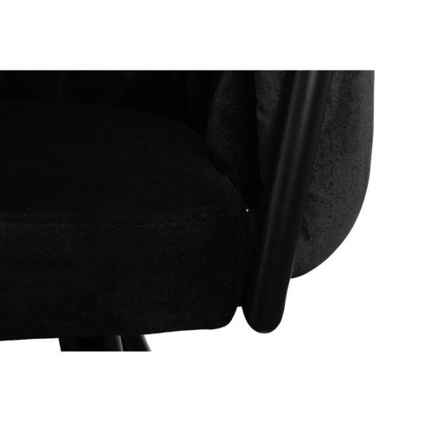 chaise Wave noir 6 - Lot de 2 Chaises Velours noir Wave