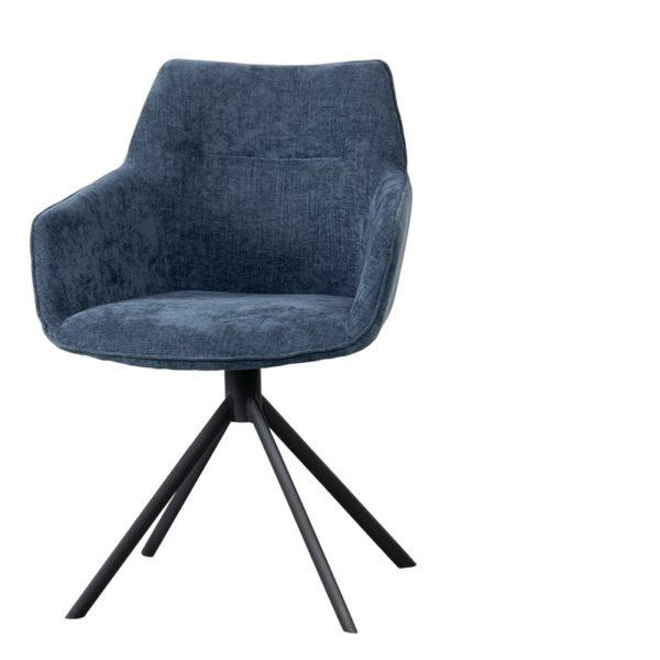 chaise johnson bleu - Chaise Pivotante bleu Johnson
