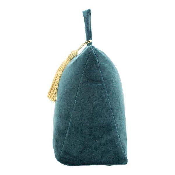 dcfgdspt 2 - Cale-porte Velours Bleu canard