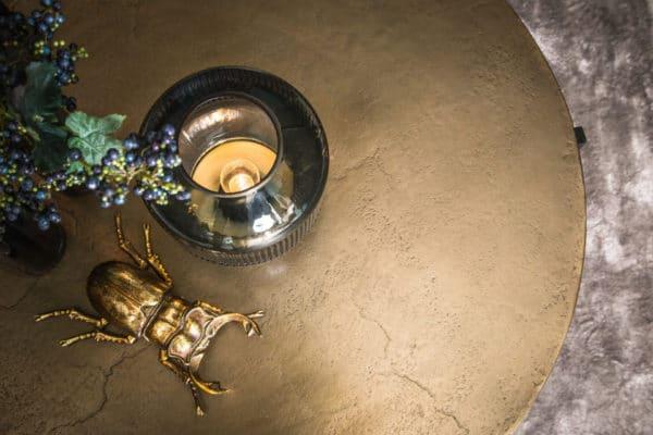 697342 3 - Table basse ronde aluminium doré Ace