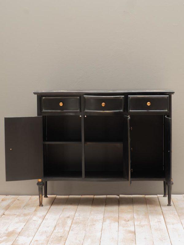 Commode 3 tiroirs et 3 portes Orleans C - Commode en métal noir Orléans