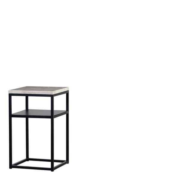 Table de chevet marbre beige sylvester - Table de chevet Marbre Beige Sylvester