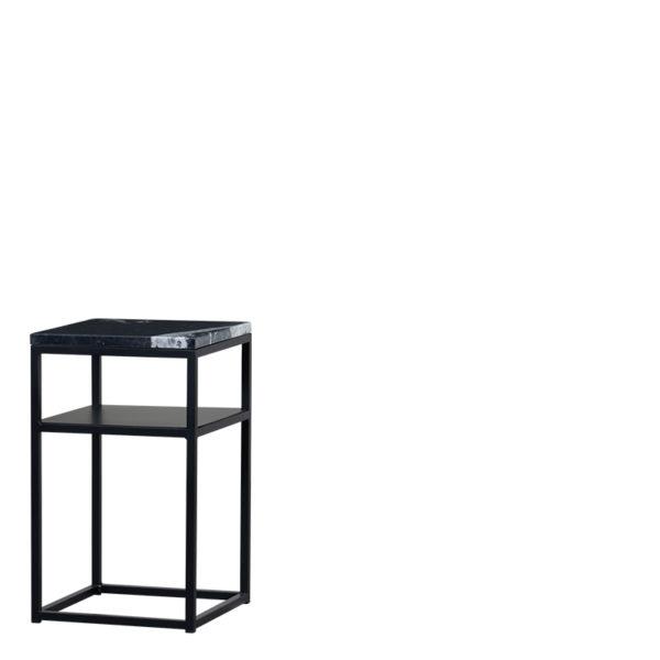 Table de chevet marbre noir sylvester - Table de chevet Marbre Noir Sylvester