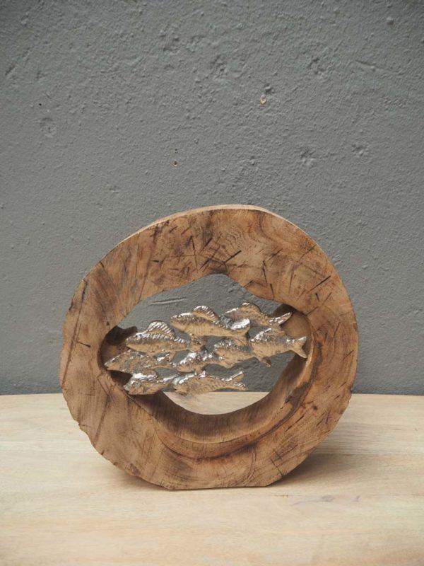 Deco rondin banc de poissons 2 - Décoration rondin et banc de poissons