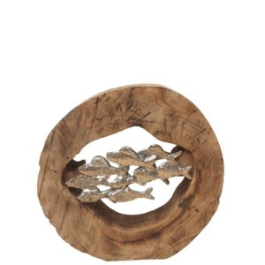 Deco rondin banc de poissons - Nouveaux produits