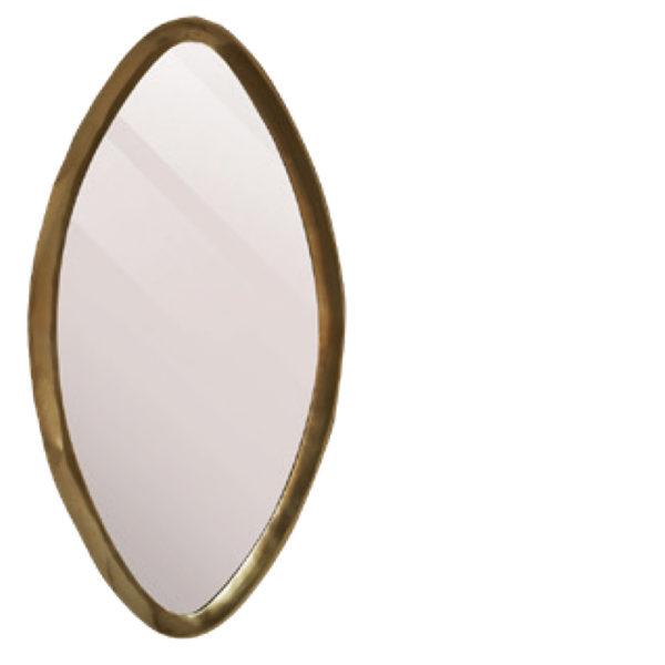 Miroir Reno ovale Lifestyle - Miroir ovale doré Reno