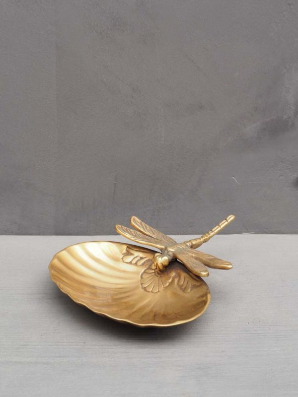 Vide poche libellule coquillage 1 - Vide poche libellule et coquillage