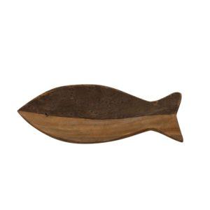 Vide poche poisson bois bicolore - Nouveaux produits