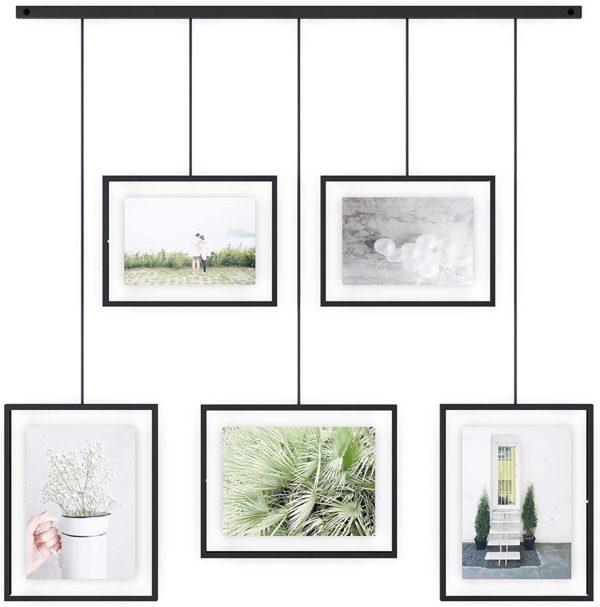 Exhibit Umbra 5 photos 1 - Cadre Exhibit noir Umbra Set de 5