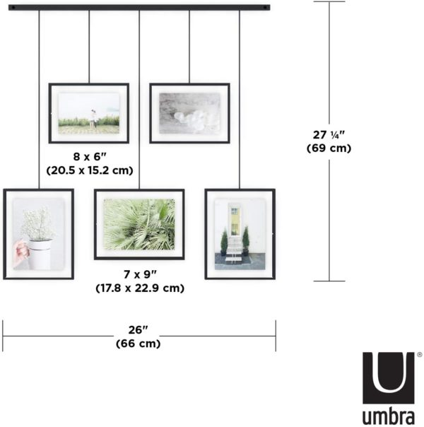 Exhibit Umbra 5 photos 2 - Cadre Exhibit noir Umbra Set de 5