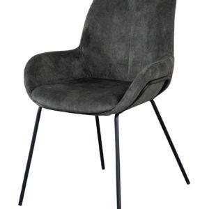 Chaise de salle a manger en velours livingston vert - Nouveaux produits