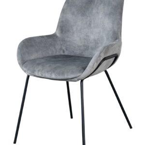Chaise en velours acier Livingston - Nouveaux produits