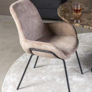 Chaise en velours beige Livingston 1 - Nouveaux produits