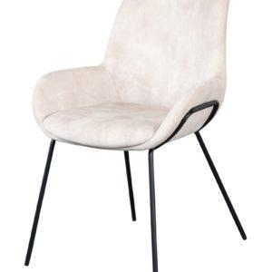 Chaise en velours ecru Livingston - Nouveaux produits