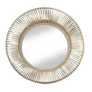 buenos grand miroir rond rotin - Nouveaux produits