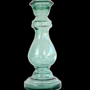 caidas bougeoir en verre recycle vert claire 1586 - Nouveaux produits