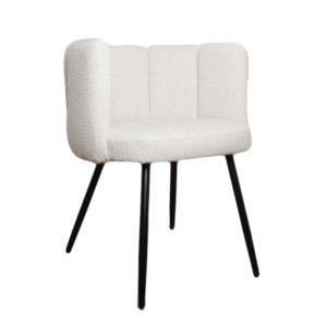 chaise bouclette blanc high five - Nouveaux produits