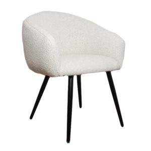 chaise bubble tissu bouclette blanc - Nouveaux produits