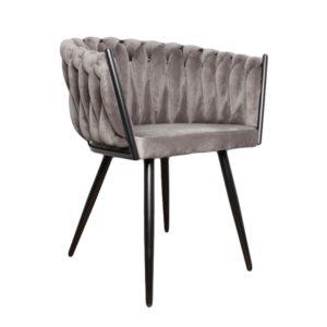 chaise velours gris wave - Nouveaux produits